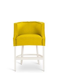 Vince Barstool in Buzzi Felt with Painted Vanilla Legs