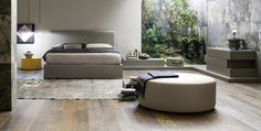 Design: Nova Lab A soft, sink-in form, a high, slimline back: these are the distinguishing features of the Twiggy bed, a functional model with a big personality Twiggy, Trends 2016, Bedroom Bed, Bedrooms, Bedroom Chest, Floor Chair, Designer, Ottoman, New Homes