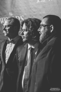 Simon Pegg, Edgar Wright, and Nick Frost.