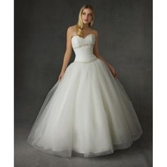 Tulle Sweetheart Strapless Neckline with Floor Length Ball Gown Skirt Custom Made Wedding Dress WD-0138