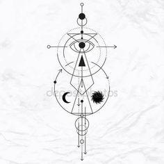 Современный символ геометрической алхимия