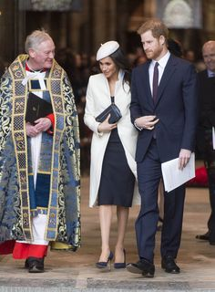 Meghan Markle, Prince Harry, Catherine, Duchess of Cambridge and Prince William, Duke of Cambridge attend the 2018 Commonwealth Day service with Queen Elizabeth II at Westminster Abbey on March 12, 2018 in London, England