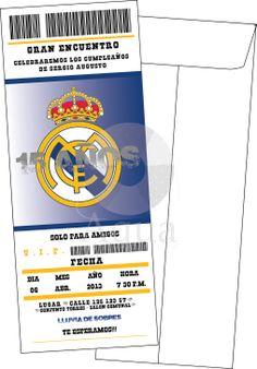 invitación Real Madrid Soccer Birthday, Soccer Party, 7th Birthday, Fiesta Real Madrid, Real Madrid Soccer, Birthdays, Ideas, Ideas Party, Soccer