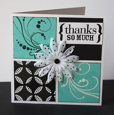 thanks card. Love these colors! OR Thinking of you !