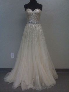 Wow, this is my wedding dress!!  Of course with all bling shoes too :)