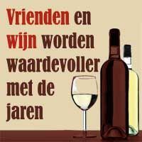 vrienden en wijn