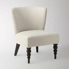 Veronica Chair, Turned Leg, Chevron, Blue Lagoon