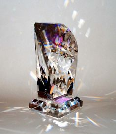 Leaded Crystal Prism Sculpture - The Harp | MysticPrism - Glass on ArtFire