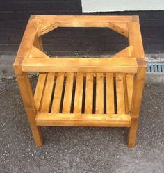 might make a similar version out of free pallet wood to put my £10 belfast sink (*fingers crossed*) on the paved bit under the outside tap Traditional Wooden Stand For Belfast Butler Sink Only £99 | eBay