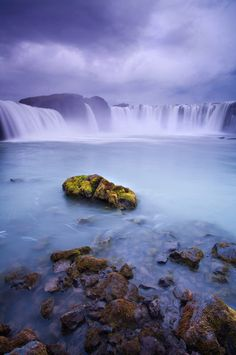 The waterfall Godafoss is famous in Icelandic history, supposedly the final resting place of a series of pagan idols which were thrown in here by their owner when he converted to Christianity, hence the name 'The waterfall of the gods'.