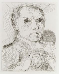 Self-Portrait with a Stylus  Max Beckmann  (German, Leipzig 1884–1950 New York City)  1916 drypoint