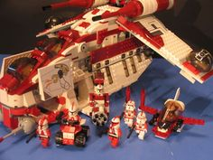 Lego® Brick Star Wars™ Custom Dark Red Shock Republic Gunship Clone Wars™ Figs | eBay