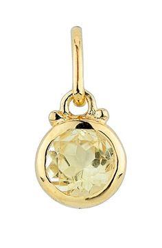 Women's Baroni Birthstone Charm - Gold/ Citrine