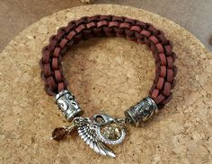 theses leather and crystal bracelets are gorgeous!!! @DTCreations @leathercordusa @katiehacker #BBJTV