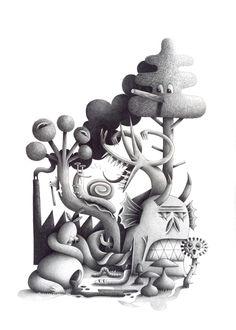 Dessin par l'illustrateur français Nicolas Barrome.