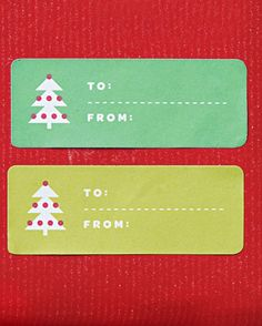 Free printable Christmas tree gift tags