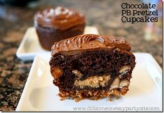 Chocolate Peanut Butter Pretzel Cupcake | Handmade Party Ideas: did someone say party?