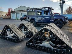 preparing for snow by staying on-track (sort of). Cool Things To Build, Best 4x4, Land Rover Defender 110, Off Road, Chenille, Future Car, Go Kart, Sexy Cars, Military Vehicles