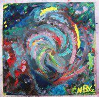 Nadii B. Xx' ft. Nicolca - ''Wirbel ins Unfassbare'' Mai/'11 - mit Öl auf Leinwand. Maße kommt noch. 30 €. || totales WirrWarr & eigentlich nicht so mein Stil, aber ab und zu gefällt es doch! Allerlei Farben.