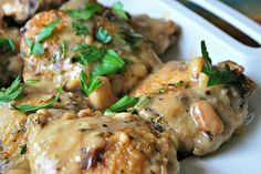 Chicken with 40 cloves of garlic  http://www.simplebites.net/my-secret-for-easy-entertaining-during-the-cold-weather-months/