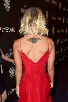Kaley Cuoco Stuns in Cleavage-Baring Golden Globes After-Party Dress, Flaunts New Moth Tattoo