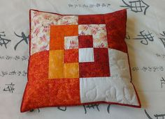 quilt-stuff: (via Little Green Doll) Quilting Tutorials, Quilting Projects, Quilting Designs, Sewing Projects, Patchwork Cushion, Quilted Pillow, Patchwork Quilting, Peacock Embroidery Designs, Postage Stamp Quilt