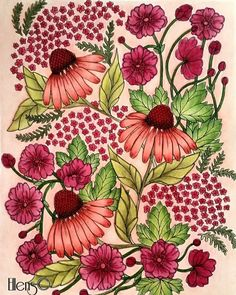 Out of my comfortzone.. #flowers #blomstermandala #mariatrolle #maria_trolle… --> For the top-rated adult coloring books and supplies including drawing markers, colored pencils, gel pens and watercolors, visit our website at http://ColoringToolkit.com. Color... Relax... Chill.