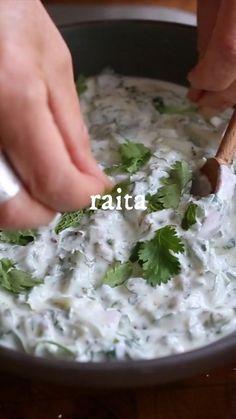 Indian Mint Sauce, Indian Yogurt Sauce, Mint Yogurt Sauce, Mint Raita Recipe, Curd Recipe, Cucumber Raita Recipe Indian, Indian Sauces, Indian Dishes, Mexican Food Recipes