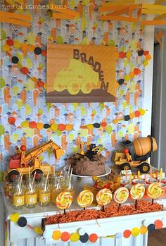 Construction Truck Big Rig Boy Birthday Party Planning Ideas