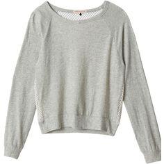 Rebecca Taylor Mesh-Back Sweatshirt ❤ liked on Polyvore