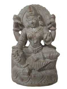 Shri Lakshmi Stone Sculptures from India, Hindu Goddess Statue Sale