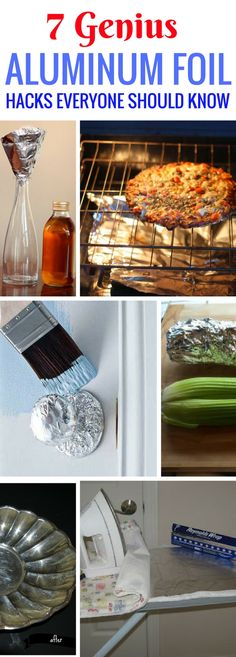 Really GENIUS aluminum foil hacks. So many things you can do with it to help with stuff around the house.