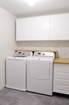 Chasing Waterfalls (Our Homemade Laundry Room Counter) | Young House Love