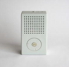Simply beautiful. Dieter Rams. Braun. Pocket radio (model T3). 1958.