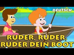 Ruder, Ruder, Ruder dein Boot - Row, Row, Row Your Boat | German Nursery Rhymes - YouTube