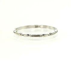 New York, NY Jewelry, engagement rings - Leigh Jay Nacht - Vintage Wedding Band - VWB-05