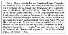 METOPROLOL (BELOC U.A.): WELCHEN STELLENWERT HAT DIE ZOK-GALENIK? - arznei telegramm