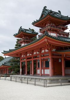 Heian Shrine, Kyoto East Asian Countries, Place Of Worship, Heaven On Earth, Kyoto, Pergola, In This Moment, Architecture, House Styles, Samurai