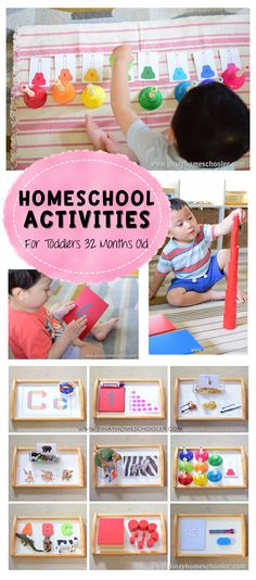 Homeschool Activities for Toddlers 32 Months Old
