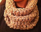 Cream Beige  Cowl Neck Scarf -READY TO SHIP. $16.00, via Etsy.