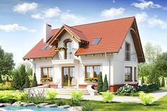 Wizualizacja ARC Dom Dla Ciebie 1 B bez garażu CE