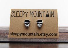 Breaking Bad Heisenberg Stud Earrings by SleepyMountain on Etsy, $9.00