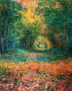The Undergrowth in the Forest of Saint-Germain-Claude Monet
