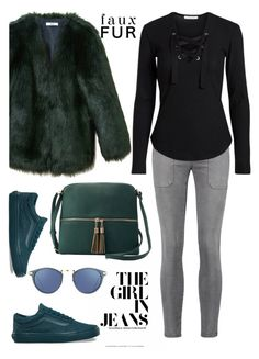 """""""The girl in jeans"""" by pamela-802 ❤ liked on Polyvore featuring THP, Current/Elliott, Vans, Linda Farrow and Deluxity"""