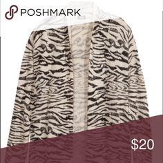 H&M zebra print cardigan Zebra print open cardigan. Light weight. Gently worn. H&M Sweaters Cardigans