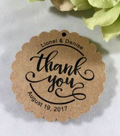 Thank you Tags, Wedding Thank you, Couple Thank you, Wedding Favor Tags, Shower Tags, Gift Tags, Party Favor Tags, Set of 12