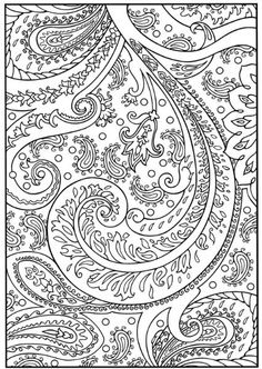 ☆ Coloring Page ~ Paisley