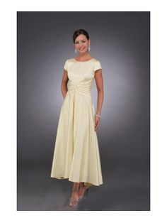 Image detail for -High Quality A-line Scoop Tea-length Satin Mother of the Bride Dresses ...