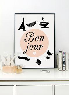 kids room, paris illustrations, ilustracja, bon jour