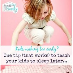 Keep your child in their bed